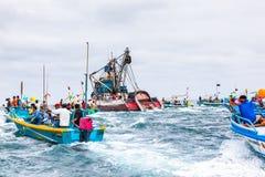 Processione marina Immagini Stock