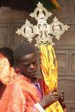 Processione ortodossa etiopica, in Etiopia Immagine Stock