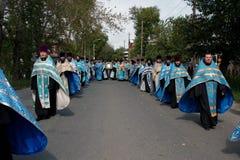 processione ortodossa Tomsk religiosa Immagini Stock Libere da Diritti