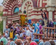 Processione per pace Cattedrale di annuncio l'ucraina Harkìv 10 luglio 2016 Immagine Stock