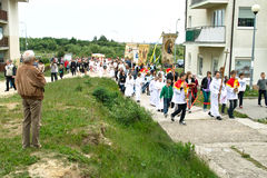 Processione religiosa al giorno di Corpus Christi. Fotografia Stock Libera da Diritti