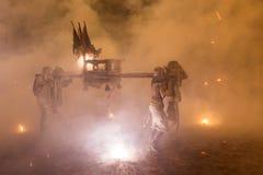 Processione religiosa di notte Immagine Stock Libera da Diritti