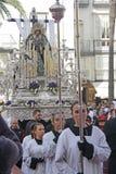 Processione religiosa, il vergine di solitudine Fotografia Stock