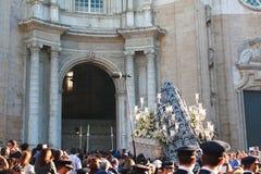 Processioni religiose a Cadice fotografia stock libera da diritti