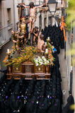 Processioni religiose in settimana santa. La Spagna Immagini Stock Libere da Diritti