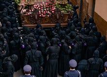 Processioni religiose in settimana santa. La Spagna Immagine Stock