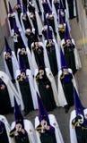 Processioni religiose in settimana santa. La Spagna Fotografie Stock