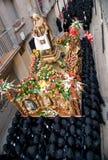 Processioni religiose in settimana santa. La Spagna Fotografia Stock Libera da Diritti