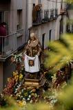 Processioni religiose in settimana santa. La Spagna Fotografia Stock