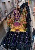 Processioni religiose in settimana santa. La Spagna Immagine Stock Libera da Diritti
