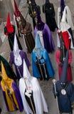 Processioni religiose in settimana santa. La Spagna Fotografie Stock Libere da Diritti