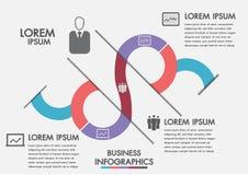 Processo aziendale Infographics di cronologia con 3 opzioni, cerchi Modello di vettore Un infographics di tre punti un una strate royalty illustrazione gratis