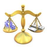 Processo contra o dinheiro Fotos de Stock Royalty Free