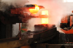 Processo de carimbo quente automático Imagem de Stock Royalty Free