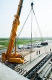Processo de construção de ponte Fotografia de Stock