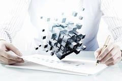 Processo de integração das novas tecnologias Foto de Stock Royalty Free