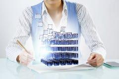 Processo de integração das novas tecnologias Imagens de Stock Royalty Free