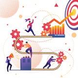 Processo de negócios de metáfora da realização do sucesso ilustração royalty free
