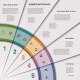 Processo de negócios ou trabalhos de Infographic para o projeto Fotografia de Stock Royalty Free