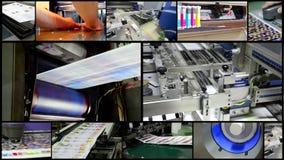 Processo de produção da planta da impressão video estoque