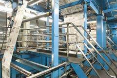 Processo de produção do jornal foto de stock