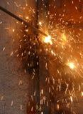 Processo de soldadura do metal Imagem de Stock Royalty Free