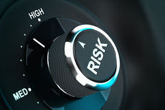 Processo de tomada de decisão, gestão de riscos Fotografia de Stock