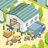 Processo de trabalho logístico Foto de Stock Royalty Free