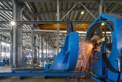 Processo de trabalho na fábrica foto de stock
