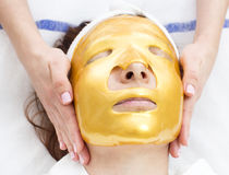 Processo del massaggio e dei facials Fotografie Stock Libere da Diritti