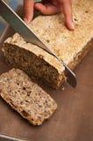 Processo del pane casalingo Fotografie Stock Libere da Diritti
