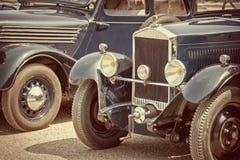 Processo dell'annata delle automobili antiche Fotografia Stock Libera da Diritti
