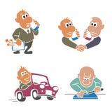 Processo dell'attrezzatura di consegna da riparare dal proprietario Royalty Illustrazione gratis