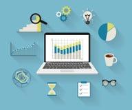 Processo di analisi dei dati illustrazione di stock