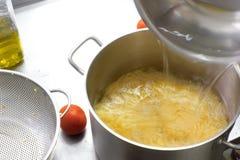 Processo di cottura dell'alimento del vegano Fotografia Stock