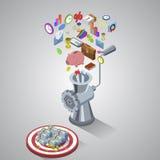 Processo di fabbricazione dei soldi, stile piano di processo aziendale Royalty Illustrazione gratis