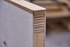 Processo di fabbricazione del legno della porta Battente Fabbricazione della mobilia immagine stock libera da diritti