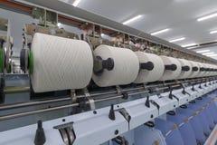 Processo di filatura del filato Immagine Stock