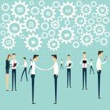Processo di lavoro del collegamento di comunicazione di affari Immagine Stock Libera da Diritti
