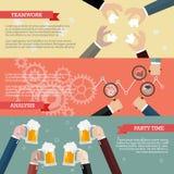 Processo di lavoro di squadra di affari infographic Fotografia Stock