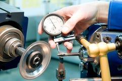 Processo di misurazione di qualità dello strumento Immagini Stock