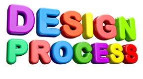 Processo di progettazione illustrazione di stock