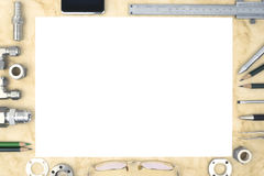 Processo di ricerca e sviluppo nell'ingegneria e nella scienza di vuoto Fotografia Stock