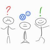 Processo di soluzione dei problemi, creatività illustrazione vettoriale