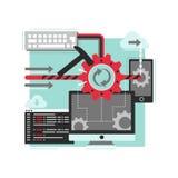 Processo di sviluppo di software Immagine Stock