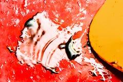 Processo do óleo da mistura do álcool fotografia de stock royalty free