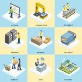 Processo do funcionamento da logística Imagem de Stock Royalty Free