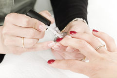 Processo do Manicure Fotos de Stock Royalty Free