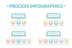 Processo Infographics Fotos de Stock Royalty Free