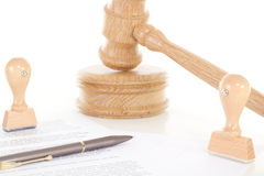 Processo legal devido à quebra de contrato Fotografia de Stock
